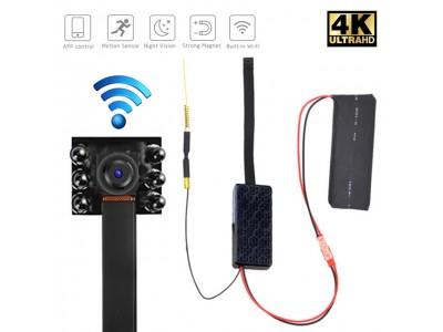 Camera siêu nhỏ V99-Xpro 6 mắt hồng ngoại Full HD 4K