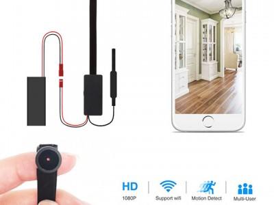 Camera quay lén siêu nhỏ V99-X Wifi cam lồi góc quay 170 độ - Có hộp tản nhiệt
