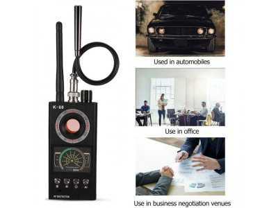 Máy phát hiện nghe lén, thiết bị định vị, camera quay lén K68 thế hệ mới